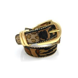 Vintage animal print leather belt by AMIEE LYNN